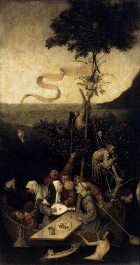 """Hieronymus Bosch """"Kvailių laivas"""". 1494"""
