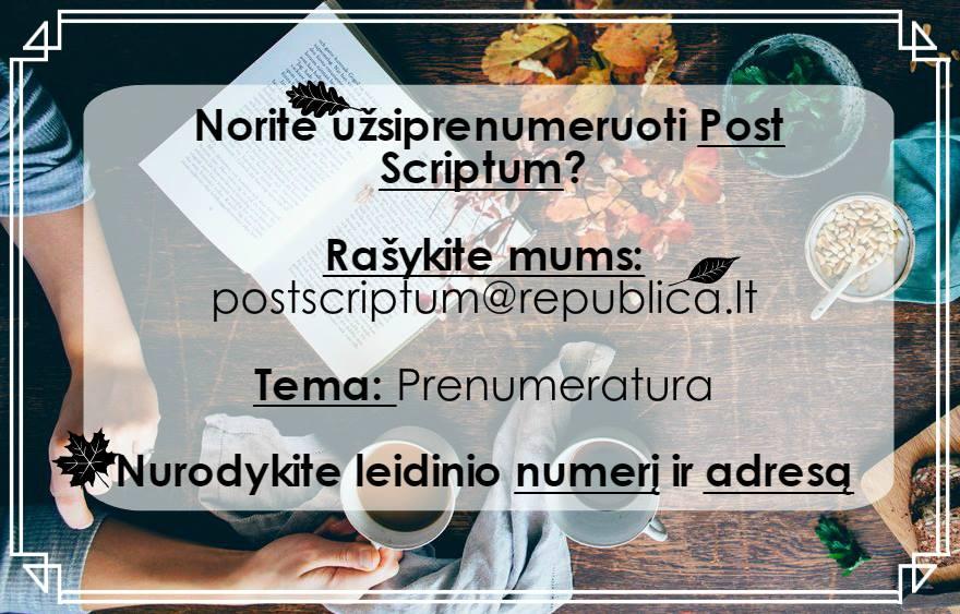 Post Scriptum prenumerata