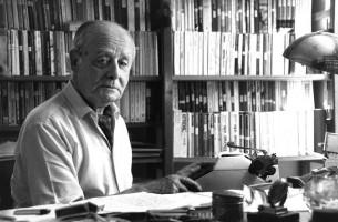 Jerzy Giedroyc, Maison-Laffitte, 1987 m. Nuotraukos aut. Bohdan Paczowski.