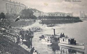 """Trys laivai - """"Kronprincesė"""", """"Grodno"""" ir """"Zvezda"""" - plaukiojo Vilniuje į Verkius XX a. pr. Miestai.net nuotrauka."""