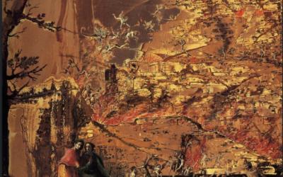"""Francesco Lagozzi, """"Dantė ir Vergilijus keliauja į pragarą"""", 1620 m."""
