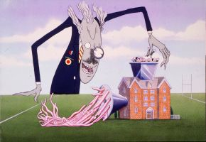 "Gerald Anthony Scarfe. Animacija iš Pink Floyd filmo ""Siena"" (""The Wall""). 1982"
