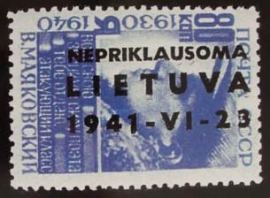 Sukilėlių pašto ženklas, 1941 m.