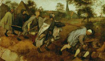 """Pieter Bruegel """"Aklieji, rodantys kelią akliesiems"""". 1568"""