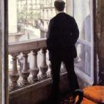 "Gustave Caillebotte ""Jaunas vyras prie lango"". 1875"