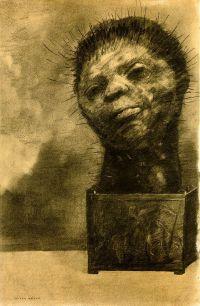 """Odilon Redon """"Žmogus kaktusas"""". 1881"""