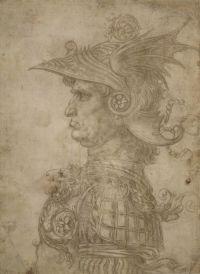 """Leonardo da Vinci """"Antikos karys"""". 1472"""